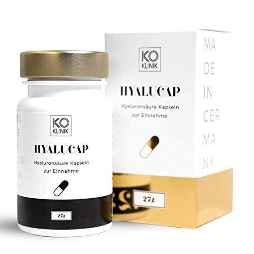 Hyaluronsäure & Kollagen Booster Anti-Aging, Haare & Gelenke – 350 mg Hyaluron + 200 mg Kollagen pro Kapsel, 90 Kapseln, vegan – von KÖ-KLINIK