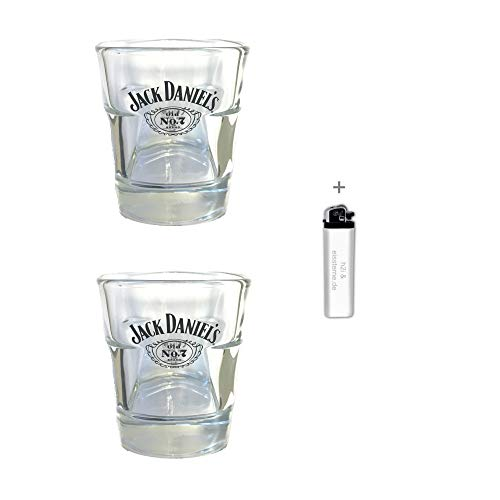 Jack Daniel's h2i 2 Stück < Original Jack Daniels Whisky Becher Glas Tumbler 2cl / 4cl > > neues Model < <