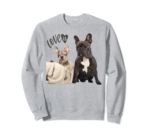 Black White French Bulldog Shirt Frenchie Mom Dad Dog Puppy Sweatshirt
