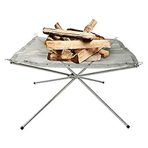 Rootless 3 Section Foldable, Compact and Collapsible Fire Pit - Perfect for Camping, Backyard, and Garden - Carrying Bag Included