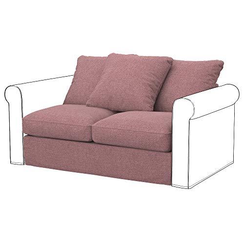 Soferia Funda de Repuesto para IKEA GRONLID módulos sofá de 2 plazas, Tela Naturel Coral, Naranja