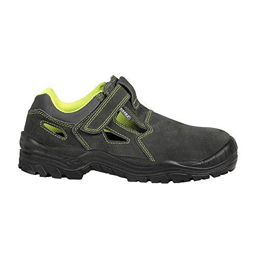 COFRA SD054-000.W48 AMMAN - Sandalias de seguridad S1 P SRC, color gris/amarillo fluorescente, talla 48
