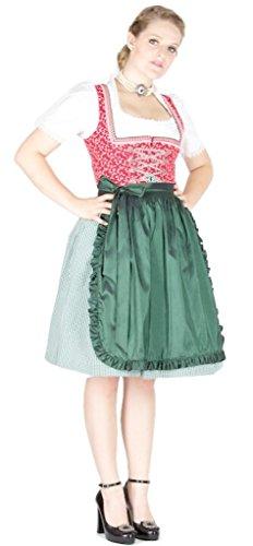 11085 Wenger Dirndl Zitta 60er pink grün Size 32