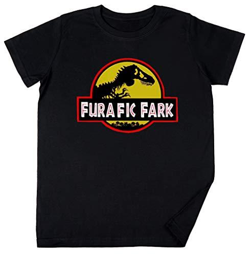 Vendax Furafic Fark Niños Chicos Chicas Unisexo Camiseta Negro