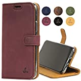 Snakehive iPhone 11 Pro Max Leather Case, Luxury Genuine Leather Wallet with Viewing Stand and Card Slots, Flip Cover Gift Boxed and Handmade in Europe for Apple iPhone 11 Pro Max (Plum)