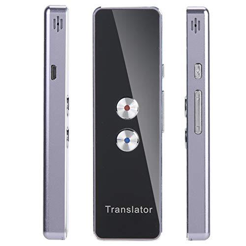 VBESTLIFE Elektronischer Übersetzer Intelligenter Sprachübersetzer, mehrsprachiger Bluetooth-Übersetzer Echtzeit-Tascheninterpreter Mehrsprachiger Übersetzer unterstützt 40 hochpräzise Sprachen.
