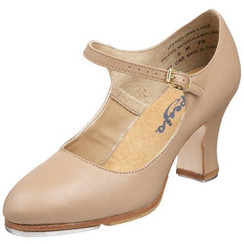 Capezio womens Manhattan Xtreme Tap dance shoes, Caramel, 9.5 US