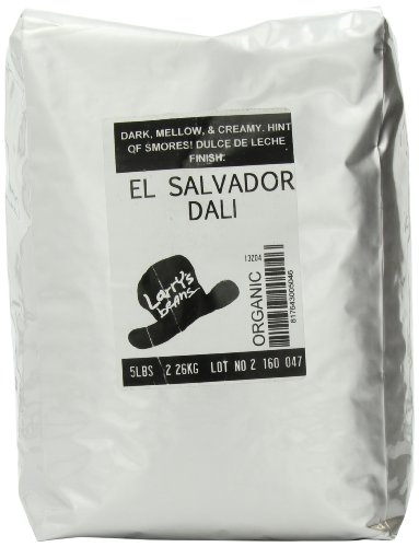 Larry's Coffee Organic Fair Trade Whole Bean 5 pound pack of FBA278501, El Salvador Dali Blend, 80 Ounce