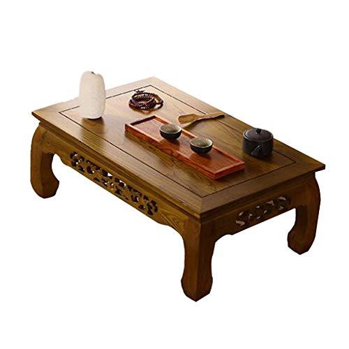 Tables Basse Tatami Vieil Ordinateur Orme Basse lit thé Japonais Balcon Baie vitrée Basses (Color : Brown, Size : 70 * 45 * 30cm)