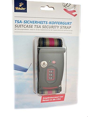 TCM Tchibo TSA Sicherheits Koffergurt Schloss Kofferschloss