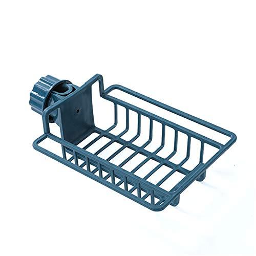 Weiy Küchenarmatur Schwammhalter Umweltfreundlich Verstellbarer Badhalter Waschbecken Küchenzubehör,Navy blau
