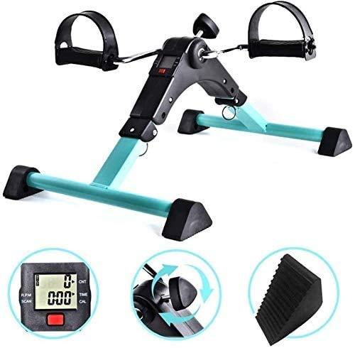 TQ Tragbare Pedal Exerciser, Fahrraduntertischmaschine Arm-Bein-Hausierer Low Impact Heimtrainer für Senioren Ältere Home Fitness Widerstand Radtraining Workout