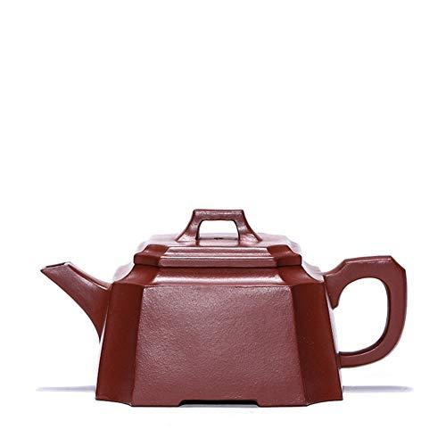 Teapot Tea Maker Pot Yixing Teapot Tea cup Extraction Pure Hand-foot Square Bottom Groove Tea Classic Tea Set (Color : Bottom clearance, Size : One Size)