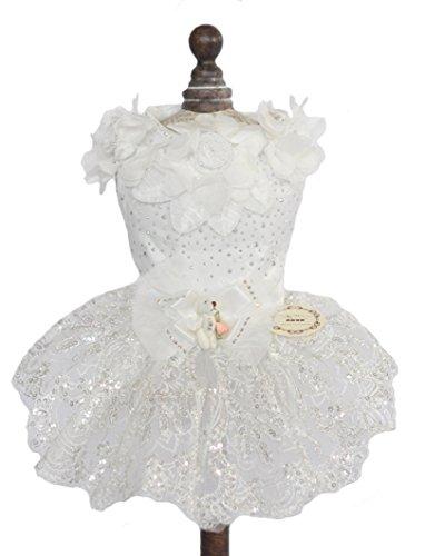 Topsung Small Dog Clothes Pet Costume Dog Dress Wedding Princess Clothes