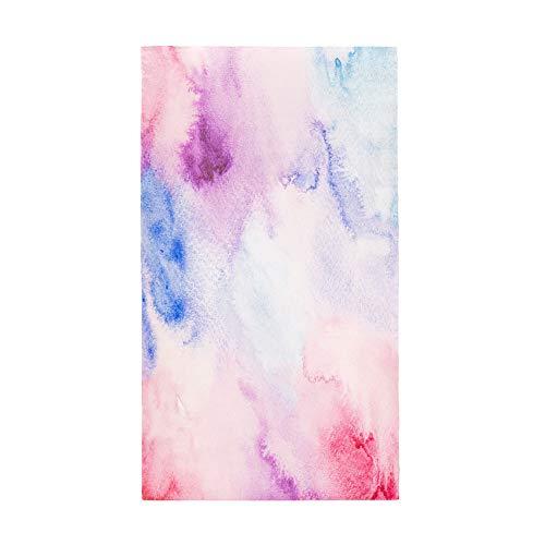 Surwin Toalla de Playa Grande, Microfibra Color de Flujo Impresión Secado Rápido Toalla de Piscina Toalla de Arena Antiadherente para Verano Playa, Yoga, Picnic, Hotel (Arcoíris,80x160cm)