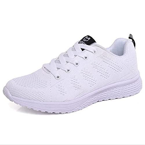 HLDJ Zapatillas Deporte Mujer Zapatos Caminar Calcetines Deporte Malla Resbalón En El Cojín Aire Dama Niñas Baile Moderno Zapatos Fáciles Mocasines Plataforma