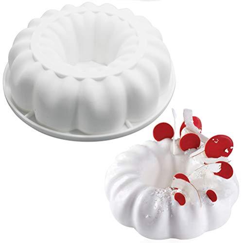 Molde redondo 3D de silicona para tartas, molde de postre y accesorios para hornear
