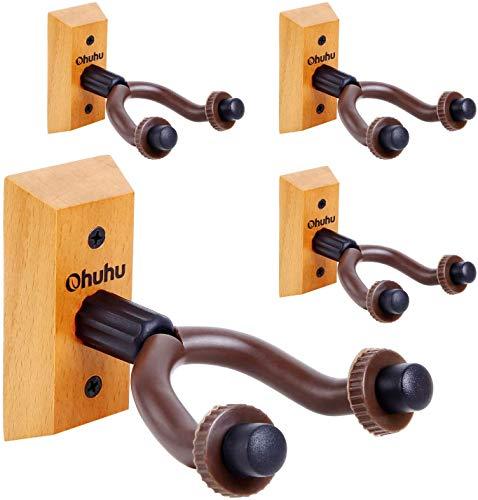 Soporte de montaje en pared para guitarra Ohuhu, Pack de 4. Ganchos...
