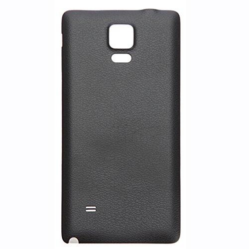 UU FIX Tapa de Batería para Samsung Galaxy Note 4 N910(Negro) de la Reemplazo Parte Trasera Battery Cover con Kit Reparación.