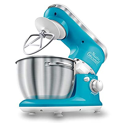Sencor Stand Mixer 300W with Pouring Shield, Turquoise