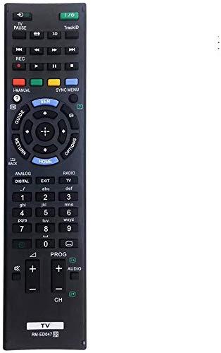 MYHGRC Reemplazo Mando a Distancia para Sony RM-ED047 para Sony bravia TV-No Requiere configuración Mando a Distancia para Sony LCD/LED Smart TV
