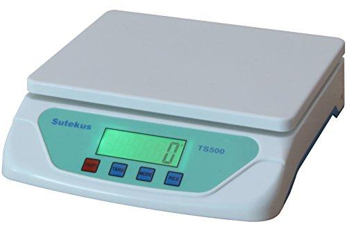 Sutekus 1g単位 最大25Kgまで計量可能 デジタル台はかり スケール 電子秤 風袋機能搭載 オートオフ機能