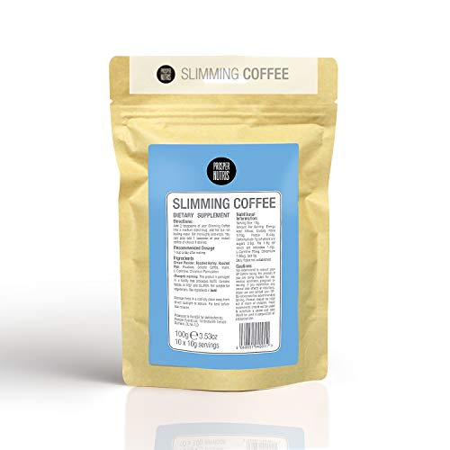Slimming Coffee - 10 Day Supply - Weight Loss Supplement - Blend with Inulin, L-Carnitine & Chromium Formulation