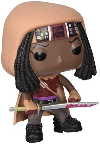 Funko - The Walking Dead, Michonne Figura de Vinilo, 10 cm (FUNVPOP3085)