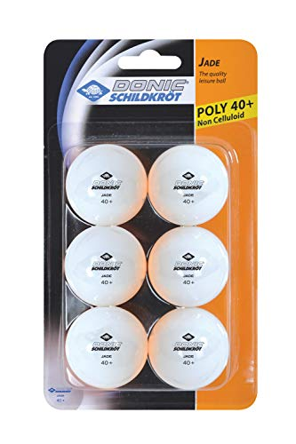 Donic-Schildkröt Tischtennisball Jade, Poly 40+ Qualität, wählbar in den Farben weiß, orange oder im Farbmix, im 6er Blister oder im 12er Polybag