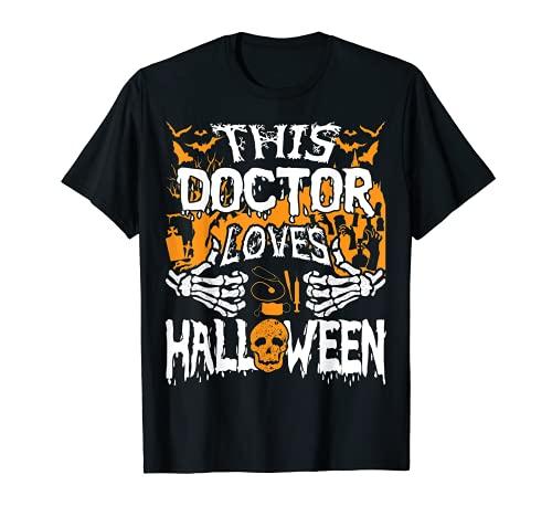 Este mdico ama Halloween Huesos Cirujano Divertido Mdico Camiseta