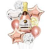 YSJJEFB Balloons Set de Globo de champán Conjunto de Taza de Gran tamaño Foil Latex Globos Boda Navidad Cumpleaños Decoración de la Fiesta (Color : Emerald)