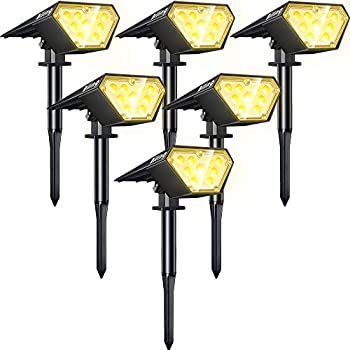 6-Pack Biling 2-in-1 Solar Powered Landscape Lights with 12 LED Bulbs