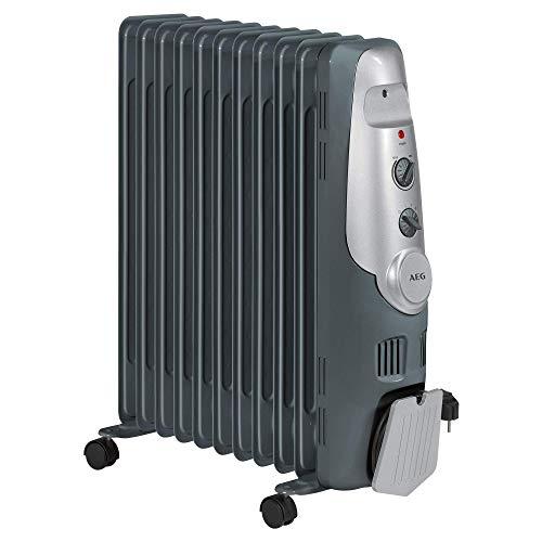 AEG RA 5522 - Radiador de aceite, 2200 W, 11 elementos, termostato, 3 niveles de potencia, regulador de potencia para un bajo consumo (Reacondicionado)