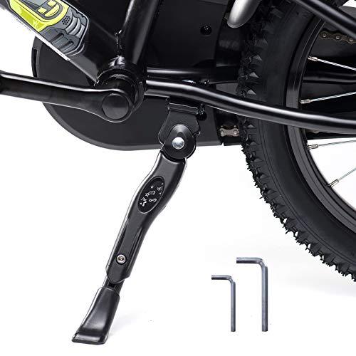LEICHTEN kickstand for kids bike center mount length adjustable fits for most 16 18 20 inch children's bicycles Aluminium Alloy bike kick stand Support Storage