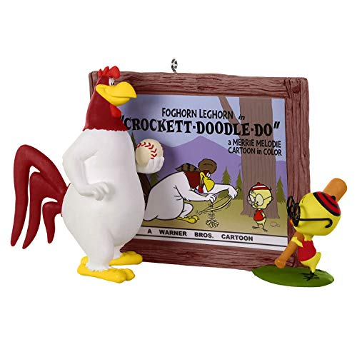 Hallmark Keepsake Christmas Ornament 2019 Year Dated Looney Tunes Foghorn Leghorn Crockett, Crocket Doodle Doo