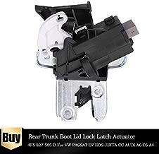 DELAMZ - Seat Rear Trunk Boot Lid Lock Latch Actuator 4F5827505D 4E0 827 505C for V W PASSAT B7 EOS Jextta CC EOS for AUDI A6 C6 A4 A5 A8