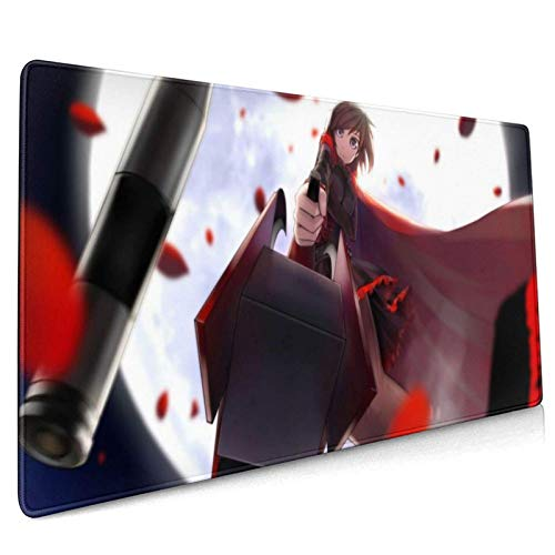 XCNGG RWBY Anime Girl Mouse Pad Pad Mouse Mat with Edge Non Slip Electronic Sports Oversized 15.8 x 35.5 in