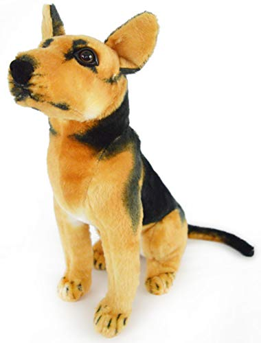 Gunther The German Shepherd - 16 Inch Large German Shepherd Stuffed Animal Plush Dog - by Tiger Tale Toys