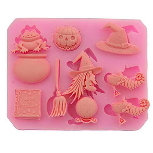 ZIYING Molde de la torta 3D Halloween Party Candy Silicone Mold Cake Decoration Tool Hat Pumpkin Pastry Baking Cocina Pan