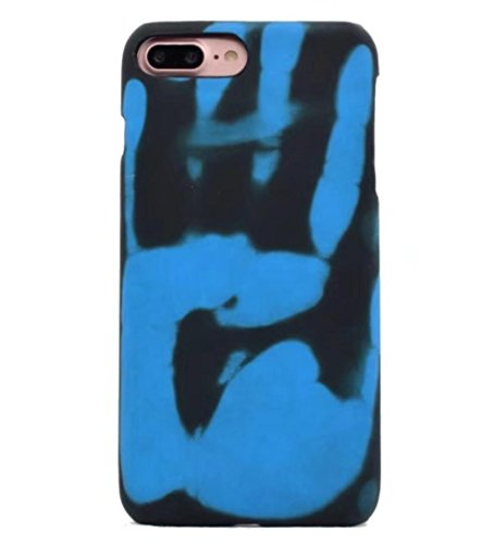 Losin Thermal Case Compatible with Apple iPhone 7 Plus/iPhone 8 Plus 5.5 Inch Fashion Color Changing Thermal Sensor Fluorescent Thermal Heat Induction Noctilucent Matte Soft TPU Back Case
