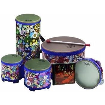 6//8//10-Inch Diameters Remo RH3100-00 3-Piece Drum Set Multi-colored Rhythm Club Hand Drum Set