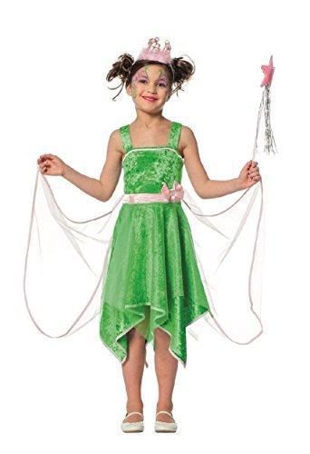 L3100970-116 grün Kinder Feen Kostüm Elfenkleid Gr.116