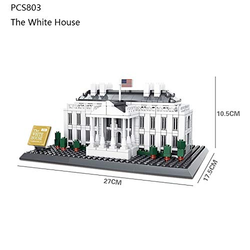 Review World Famous Building:White House,Creative Building Blocks Toys,Stress Reliever,Creat...