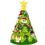 Hm Vicyy Árbol de Navidad de Fieltro de Bricolaje con múltiples Adornos navideños extraíbles,árbol de Navidad montado en la Pared,Adecuado para decoración navideña en cafés y hoteles