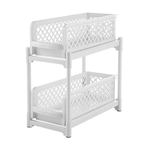Küchenschrank Ordnungssystem 2-Tier Küche Cabinet Organizer, Ausziehbarer Korb Aufbewahrung Für Home Küche Badezimmer Lagerregal Organizer
