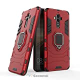 Cocomii Black Panther Armor Huawei Mate 9 Case New [Heavy Duty] Premium Tactical Metal Ring Grip Kickstand Shockproof Bumper [Works with Magnetic Car Mount] Full Body Cover for Huawei Mate 9 (B.Red)