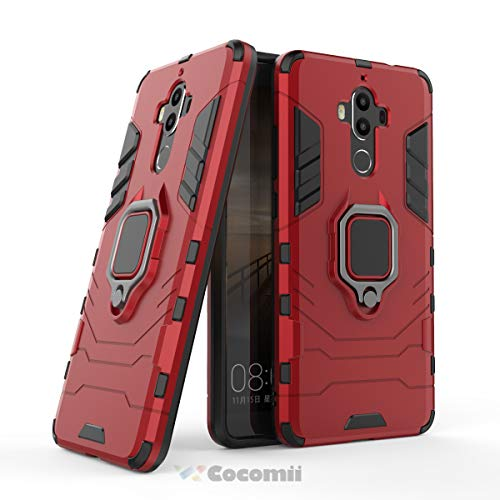 Cocomii Black Panther Ring Huawei Mate 9 Case, Slim Thin Matte Vertical & Horizontal Kickstand Ring Grip Reinforced Drop Protection Fashion Phone Case Bumper Cover for Huawei Mate 9 (Red)
