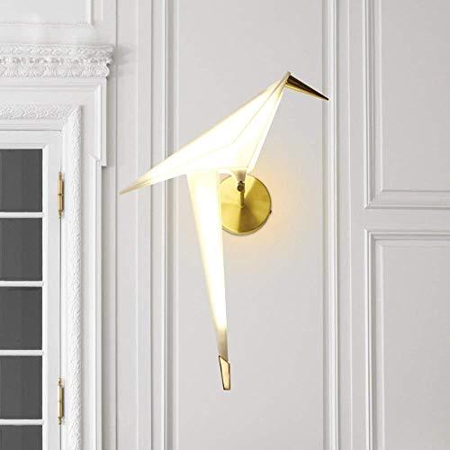 YANQING duurzame moderne minimalistische Scandinavische creatieve persoonlijkheid muur lamp acryl witte vogel verlichting lampen 5-8 vierkante meter woonkamer slaapkamer restaurant