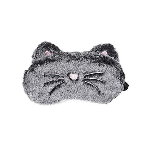 Ototon Schlafmaske aus Plüsch Katze Kaninchen Nachtmaske Augenschutz Anti-Licht Anti-Müdigkeit zum Schlafen Entspannung Reise Geschenk