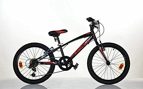 DINO BIKES Bicicletta 20 Pollici MTB Mountain Bike con Cambio 6 Marce Aurelia 420U